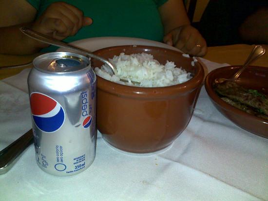 Pequena porção de arroz