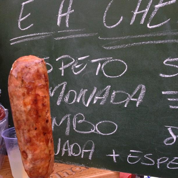 Linguiça artesanal na Feirinha Gastronômica da Vila Madalena