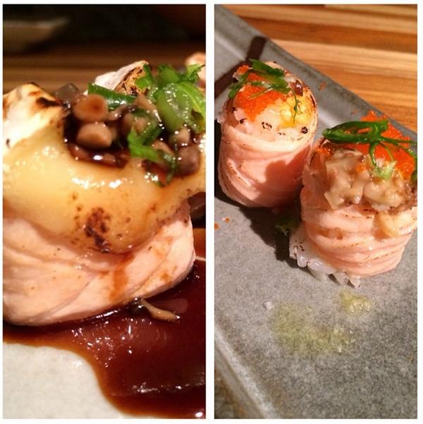 ô de brie com shimeji + Jô ovo trufado
