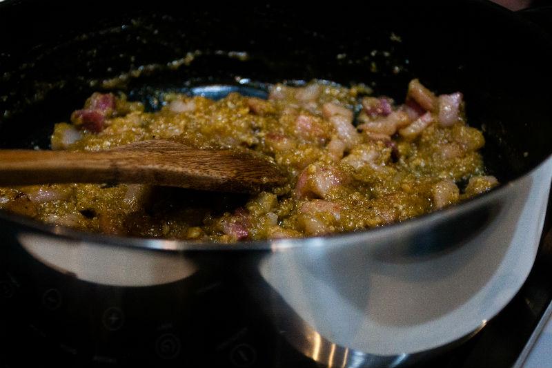 pesto-pancetta