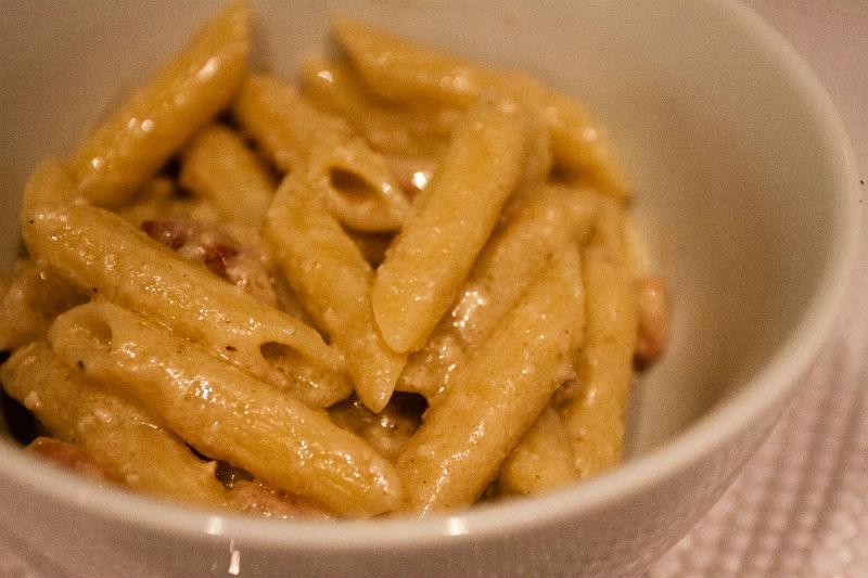 nozes com pancetta