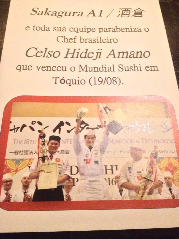 O premiado chef Celso Hideji Amano