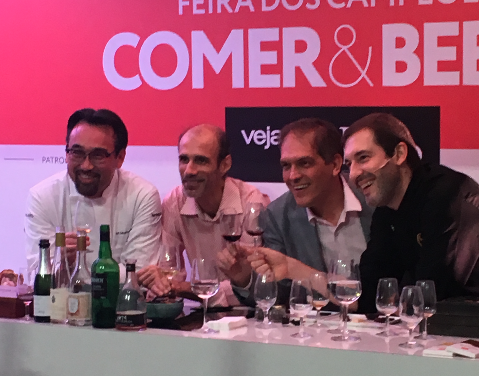 Jun Sakamoto, Manoel Beato, Arnaldo Lorençato e Alexandre Costa em Workshop no Comer & Beber da Veja São Paulo